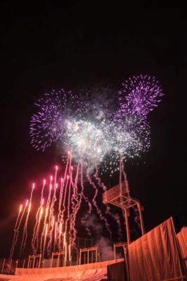 飯綱町霊仙寺湖(レイゼンジコ)花火大会 「天狗の火舞」の画像